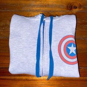 Captain America Zip Up Hoodie